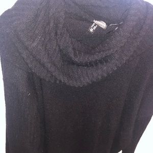 Addition Elle Black long sleeve cowelneck (2X)